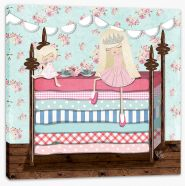 The princess and the pea Stretched Canvas KB0009