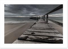 Moody Shelley Beach Art Print LH0024