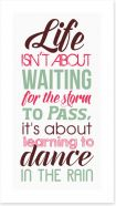 Dance in the rain Art Print LOK00027