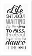 Dance in the rain Art Print LOK00028