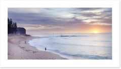 Mona Vale beach landscape at dawn