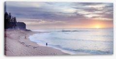 Mona Vale beach landscape at dawn Stretched Canvas MC002
