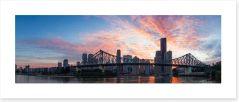 Story Bridge sunset Art Print NB0021