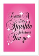 Leave a little sparkle Art Print SD00031