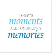Today's moments Art Print SD00057