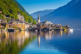 Hallstatt village reflections