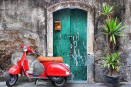Vespa at the door