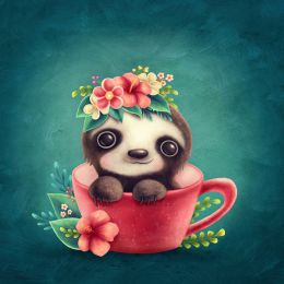 Tea cup sloth