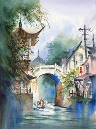 Under the pagoda bridge