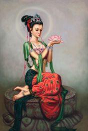 Holding the lotus I