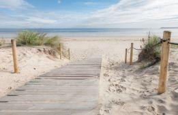 White sand walkway