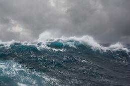 Storm spray seascape