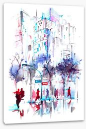 Winter in the city Stretched Canvas 100145052