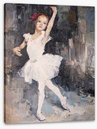 Little ballerina Stretched Canvas 100958498