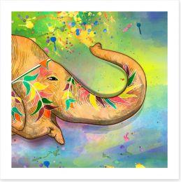 The elephant of Holi