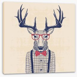 Nerd deer Stretched Canvas 110032001