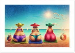 Beach House Art Print 113872335