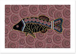 The river fish Art Print 118793523