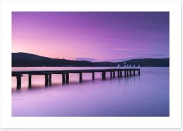 Port Arthur pier Art Print 123514259