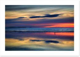 Sunset beach reflections Art Print 125711823