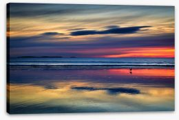 Sunset beach reflections Stretched Canvas 125711823