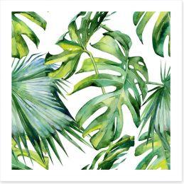 Tropical jungle leaves