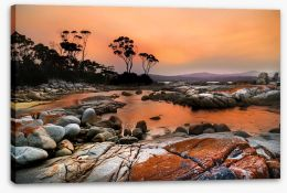 Bay Of Fires sunset Stretched Canvas 132383359