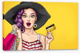 Pop Art Stretched Canvas 133477204