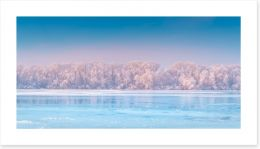 Across the frozen river