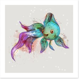 Feeling fishy Art Print 144460592