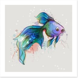 Seems fishy Art Print 144460900
