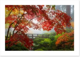 Fall at the Moon Bridge Art Print 144620838