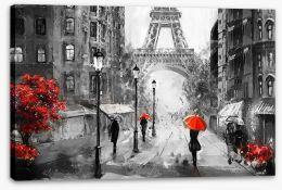 Paris Stretched Canvas 167017784