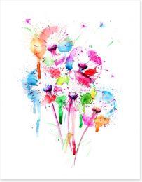 Dandelion splash Art Print 181968067