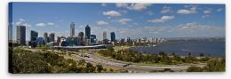 Perth skyline panorama Stretched Canvas 18252809