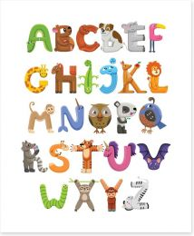 Alphabet and Numbers Art Print 187878546