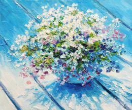 Blue table bouquet