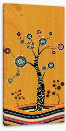 Aboriginal Art Stretched Canvas 197477609