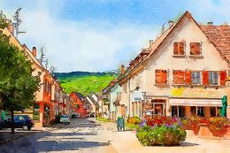 The village in Alsace
