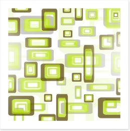 Retro squares Art Print 20247251