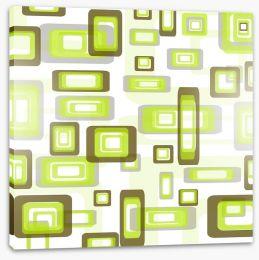 Retro squares Stretched Canvas 20247251