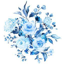 Sky blue blooms