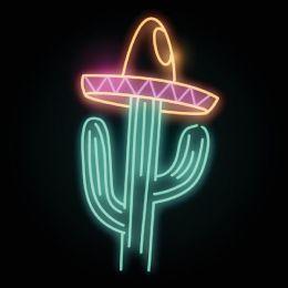 Neon cactus