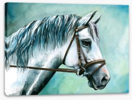 White arabian watercolour Stretched Canvas 21596582