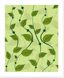 Spring pea vines