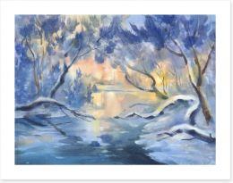 Winter Art Print 246420553