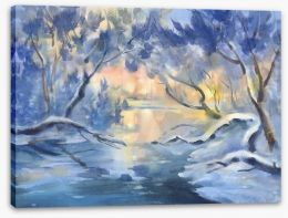 Winter Stretched Canvas 246420553