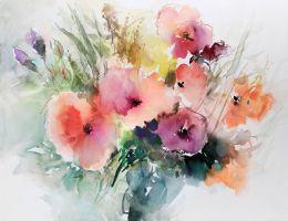 Summer bloom aquarelle