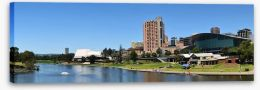 Adelaide skyline from the River Torrens Stretched Canvas 27856139