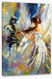 The girl and the violin Stretched Canvas 29133949